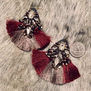 NWOT Banana Republic Fringe Earrings